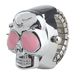 お買い得  レディース腕時計-女性用 クォーツ リングウォッチ 日本産 カジュアルウォッチ 合金 バンド スカル シルバー