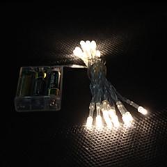 2m 20-leders varm hvitt lys 2-ledet leddstrømslyslampe for (3xaa)