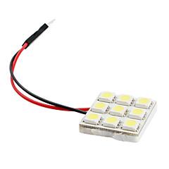 お買い得  自動車用LED電球-5050 SMD 9 LED 1.08ワット171lmの白色光車の電球(DC 12V)
