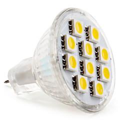 preiswerte LED-Birnen-2800 lm GU4(MR11) LED Spot Lampen MR11 10 LED-Perlen SMD 5050 Warmes Weiß 12 V