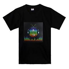 소리와 음악을 활성화 지구 패턴은 t-셔츠 (3 X AAA 배터리)를 주도