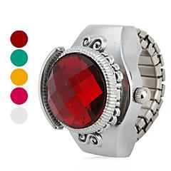 お買い得  レディース腕時計-女性用 リングウォッチ 日本産 クォーツ カジュアルウォッチ 合金 バンド ヴィンテージ シルバー - ローズ レッド グリーン 1年間 電池寿命 / SSUO SR626SW