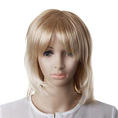 kapaksız moda sarışın düz, dalgalı saç peruk