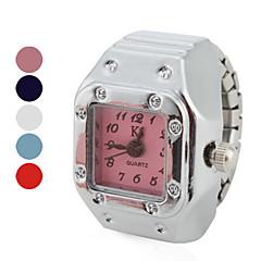 お買い得  レディース腕時計-女性用 リングウォッチ 日本産 クォーツ カジュアルウォッチ 合金 バンド ヴィンテージ ファッション シルバー - レッド ブルー ピンク 1年間 電池寿命 / SSUO SR626SW