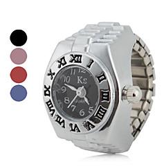 お買い得  レディース腕時計-女性用 リングウォッチ 日本産 クォーツ カジュアルウォッチ 合金 バンド ヴィンテージ ファッション シルバー - レッド ブルー ピンク