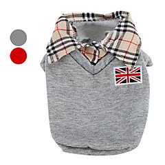 abordables Vêtements & Accessoires pour Chien-Chien Tee-shirt Vêtements pour Chien Britannique Gris Rouge Coton Costume Pour les animaux domestiques Homme Classique