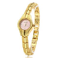 Mujer Reloj Pulsera Cuarzo Banda Elegantes Dorado Dorado