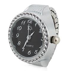 preiswerte Damenuhren-Damen Ringuhr Japanisch Quartz Silber Armbanduhren für den Alltag Analog damas Glanz Modisch - Purpur Rot Blau Ein Jahr Batterielebensdauer / SSUO LR626