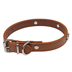 お買い得  犬用首輪/リード/ハーネス-犬 カラー 調整可能 / 引き込み式 / キュートで愛らしい PUレザー Brown / レッド