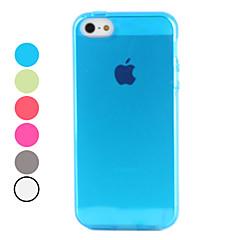 お買い得  iPhone 5 ケース-ケース 用途 iPhone 5ケース クリア バックカバー 純色 ソフト TPU のために iPhone SE/5s iPhone 5