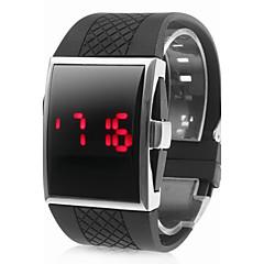 preiswerte Tolle Angebote auf Uhren-Herrn Armbanduhr Digital Silikon Bandmaterial Schwarz Kalender LED digital Schwarz
