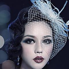 Mulheres Penas Tule Capacete-Casamento Ocasião Especial Ao ar Livre Véus de Rede