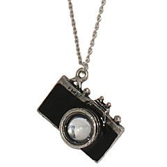 Недорогие Ожерелья-Муж. Ожерелья с подвесками - Фотоаппарат Черный, Красный Ожерелье Бижутерия Назначение Новогодние подарки, Повседневные