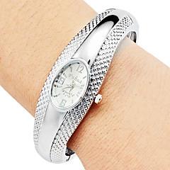 preiswerte Tolle Angebote auf Uhren-Damen Quartz Armband-Uhr Armbanduhren für den Alltag Legierung Band Freizeit Elegant Modisch Armreif Silber Bronze