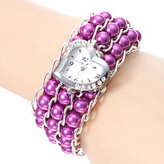 Zegarek na bransoletce Japoński Kwarcowy Pasmo Perły Elegancki White Black Purple Niebieski Różowy
