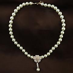 お買い得  ネックレス-真珠 パールネックレス  -  真珠 パーティー, オフィス, 結婚式 キュート スクリーンカラー ネックレス ジュエリー 用途 結婚式