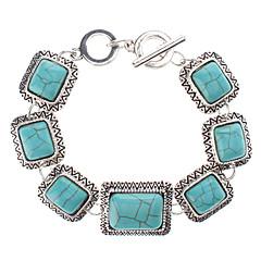 preiswerte Armbänder-Platz Turquoise Silver Bracelet