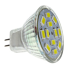 billiga LED 슈퍼 세일-2 W 250-300 lm GU4(MR11) LED-spotlights MR11 12 LED-pärlor SMD 5730 Naturlig vit 12 V