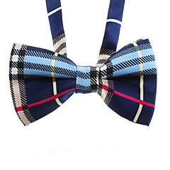 Kat Hond Stropdas/Vlinderdas Hondenkleding Bruiloft Modieus Geruit Zwart Blauw Kostuum Voor huisdieren