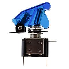 diy μπλε led φωτίζεται εναλλαγή διακόπτη on / off για το αυτοκίνητο (12v 20a)