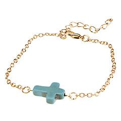 preiswerte Armbänder-Damen Wickelarmbänder Vintage Armbänder Synthetische Edelsteine Türkis Aleación Kreuz Schmuck Hochzeit