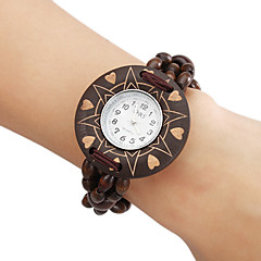 Kvinners Wood Analog Quartz Bracelet Watch (Brown)