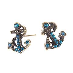 Stangøreringe Legering Imitation Diamond Anker Smykker Daglig