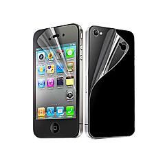 abordables Protectores de Pantalla para iPhone 4s / 4-Protector de pantalla para Apple iPhone 6s / iPhone 6 / iPhone 4s / 4 PET 10 piezas Protector de Pantalla Posterior y Frontal Ultra Delgado