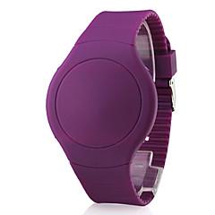 お買い得  メンズ腕時計-男性用 デジタル リストウォッチ タッチスクリーン カレンダー LED シリコーン バンド クリエイティブ ブラック 白 レッド オレンジ グリーン パープル