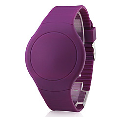 preiswerte Tolle Angebote auf Uhren-Herrn digital Armbanduhr Touchscreen Kalender LED Silikon Band Kreativ Schwarz Weiß Rot Orange Grün Lila