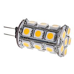 halpa LED-lamput-3000 lm G4 LED-maissilamput T 24 ledit SMD 5050 Lämmin valkoinen DC 12V