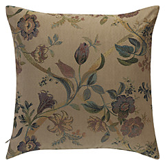 Traditional Jacquard Floral Polyester Decorative Pillow Cover