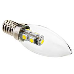 お買い得  LED 電球-6000lm E14 LEDキャンドルライト C35 7 LEDビーズ SMD 5050 クールホワイト 220-240V