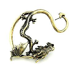お買い得  イヤリング-男性用 耳の袖口 - ドラゴン オリジナル 欧風 ファッション ジュエリー シルバー / ゴールデン 用途 クリスマスギフト Halloween 日常