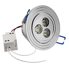 Χωνευτό Φως Φωτιστικό Οροφής Χωνευτή εγκατάσταση 3 LED Υψηλης Ισχύος 270 lm Φυσικό Λευκό 6500K κ AC 85-265 V