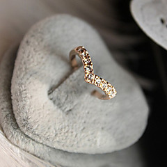 Жен. Классические кольца Любовь бижутерия Pоскошные ювелирные изделия Хрусталь Искусственный бриллиант Сплав В форме сердца Бижутерия