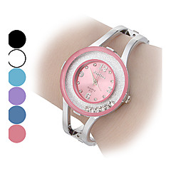Damskie Modny Zegarek na bransoletce Kryształowy zegarek Kwarcowy sztuczna Diament Stop Pasmo Błyszczące Bransoletka-Kółko Srebro
