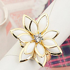Women's Lotus-Shaped Enamel Alloy Ring (random color)