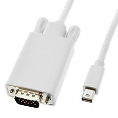 olcso Kábelek & adapterek-Thunderbolt Férfi VGA dugó fehér MacBook Air / MacBook Pro / iMac / Mac mini (1,8 m)