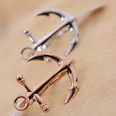Anchor Shape Double Ring(Random Color)