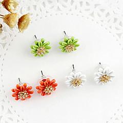 preiswerte Ohrringe-Damen Perle Mehrschichtig Ohrstecker - Perle Blume Zierlich, Mehrlagig Grün / Blau / Rosa Für Party Alltag