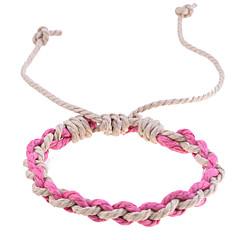 cheap Bracelets-Vintage Style Colorful Knit Braided Cord Bracelet (Random Color)