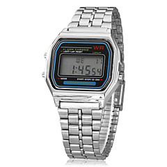 Men's Watch Women's Watch Dress Watch Multi-Function Square Digital LCD Dial Alarm Calendar Chronograph Alloy Band Wrist Watch Cool Watch Unique Watch