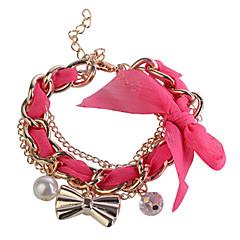 preiswerte Armbänder-Damen Bettelarmbänder - Schleife Armbänder Rose / Blau / Rosa Für Hochzeit