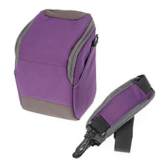 cheap Cases, Bags & Straps-B-01-PL Purple Crossbody One-Shoulder Camera Bag for DSLR Camera