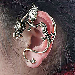 Women's Stud Earrings Ear Cuffs Personalized Unique Design Vintage Alloy Dragon Jewelry For Party Daily