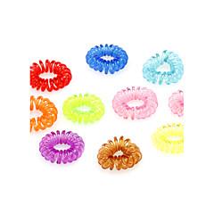 (10 Pcs) doces multicoloridos silicone laços de cabelo para as mulheres