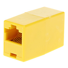 RJ45 Female to Female Adapter Yellow