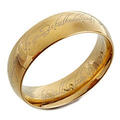 お買い得  指輪-男性用 バンドリング  -  ファッション ゴールデン リング 用途 クリスマスギフト / 日常 / カジュアル