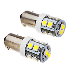 voordelige -BA9S Automatisch Koud Wit 1W SMD 3528 6000 Dashboardverlichting Nummerplaatverlichting Zijmarkeringslichten Richtingaanwijzer
